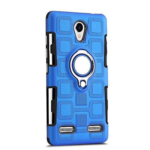 Sunrive Für ZTE Blade L7 Hülle Silikon, 360°drehbarer Ständer Ring Fingerhalter Fingerhalterung Handyhülle matt Schutzhülle Etui Case (11 Blau)+Gratis Universal Eingabestift