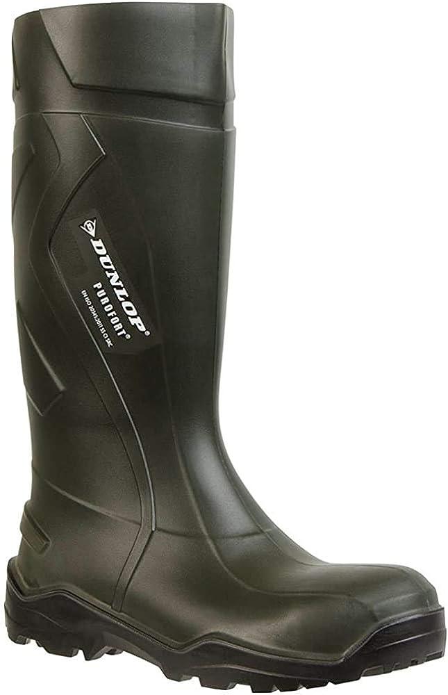 Dunlop Dunlop Mens Purofort+ Steel Toe & Midsole Safety Wellington Boots Green