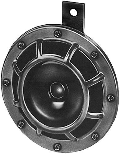 HELLA 3AF 003 399-071 Horn - B133 - 24V - 118dB(A) - Frequenzbereich: 500Hz - Hochton/Starkton - Gehäusefarbe: schwarz - schwarz - Flachsteckanschluss