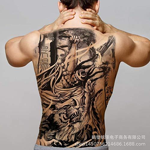 tzxdbh 2 Piezas-Nuevo [91 Opcionales] Pegatinas para Tatuajes con Respaldo Completo, Geisha Duradero, Phoenix Kowloon Lama con número de Respaldo Completo 77