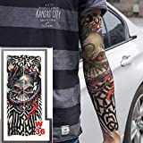 tzxdbh 2Pcs-Conjunto de Brazo de Tatuaje, Unisex, Tatuaje Deslizante, Mangas de Brazo, Traje de Pesca, Protector Solar, 2 Piezas-