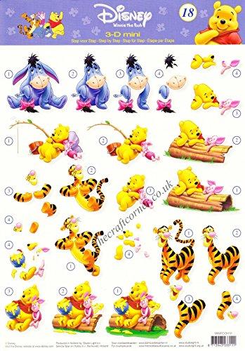 Winnie The Pooh, Eeyore, Tigger & Piglet 18 3d Decoupage Sheet