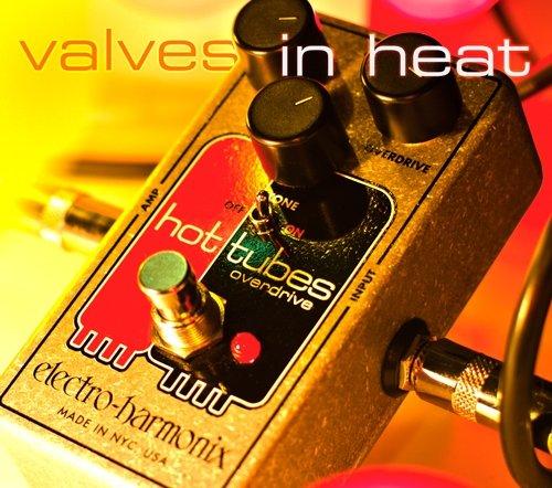 electro-harmonix HOTTUBESNANO - Pedal de distorsión para guitarra, color plateado