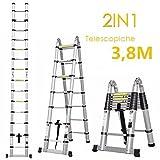 Fixkit Echelle Télescopique Escabeau Telescopique Echelle Pliante Echelle Escamotable en...