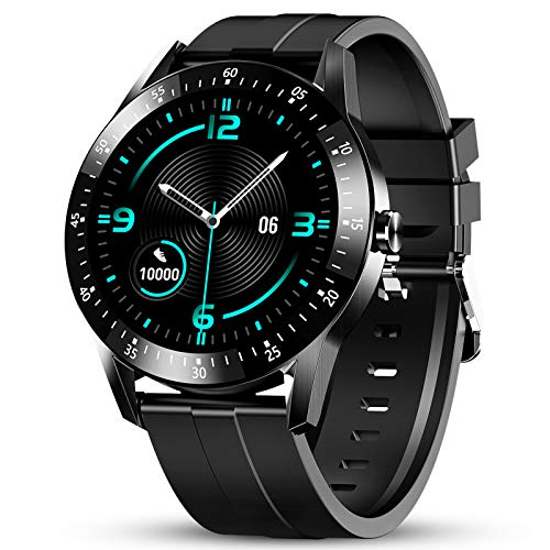 GOKOO Smart Watch for Men Fitness Tracker Mens with Blood Pressure Monitor Heart Rate Sleep Compatible with iOS and Android Phones Waterproof Pedometer Calorie Counter Running