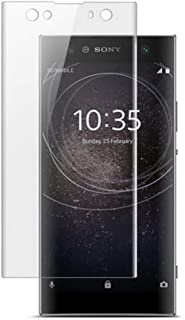 for Sony Xperia XA2 Screen Protector Curved Film, 2 Pack Case Friendly Tempered Glass HD Clear Bubble Free 9H Hardness Tem...