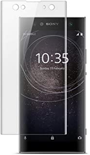 for Sony Xperia XA2 Screen Protector Curved Film, 2 Pack Case Friendly Tempered Glass HD Clear Bubble Free 9H Hardness Tempered Glass for Sony XA2 ThinQ [Anti Scratch] [Anti-Fingerprint]