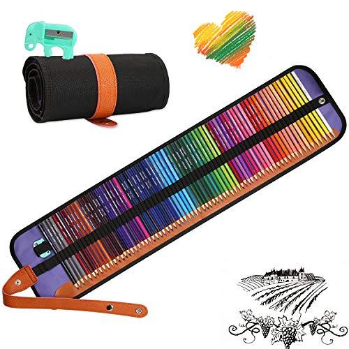Zorara 72 pcs Lápices de Colores, Set de Lápices Colores Profesional para Colorear, Dibujar y Sombrear Ideal para Artistas, Adultos y Niños