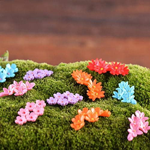 FUSSUF Decoración del hogar Accesorios de Kawaii de la Flor for Adorno de jardín en Miniatura Dollhouse Tiesto Craft Micro Paisaje