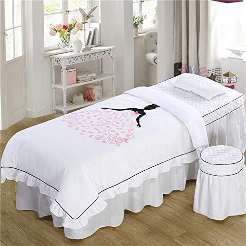 YXLJYH Einfache Massageliegenbezug Koreanisch Schönheit Bettdecke 4 sätze Bettrock Salon Bett Abdeckung körper begasung Physiotherapie Massage bettdecke-S 70x190cm(28x75inch)