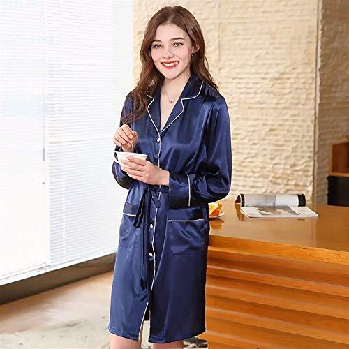 Crystallly Women'S gewaad met lange mouwen nachtjapon pyjama gewaad pyjama thuis reizen eenvoudige stijl mode comfortabele pyjama