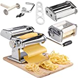 VonShef Pasta Maker, 3 in 1 Pasta Machine Stainless Steel, Pasta...