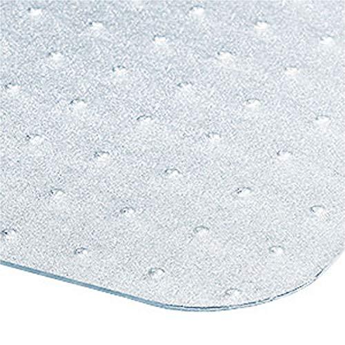 Certeo Bodenschutzmatte | BxH 100 x 120 cm | PC | Teppichboden | Transparent | Stuhlunterlage Bürostuhlunterlage Bodenschutz Schutzmatte