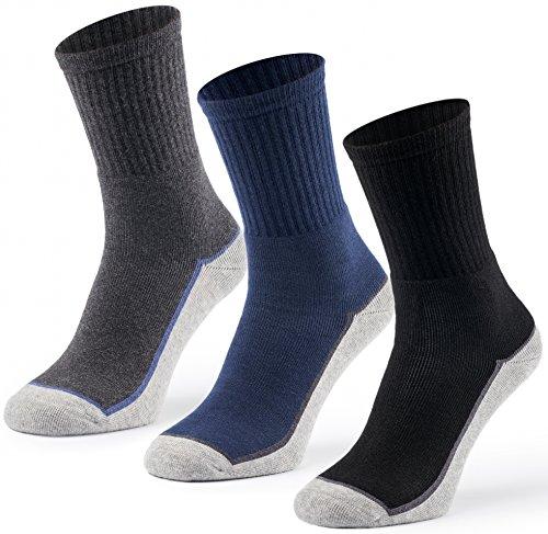 Mat und Vic's Arbeitssocken Herren & Damen Cotton Classic OEKO-TEX Standard 100 dicke warme Socken Thermosocken (6 Paar, 39-42)