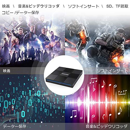 『USB 3.0外付け DVD/CD ドライブ Type-C付 DVD/CD プレイヤー ポータブルドライブ (外付け DVD/CD ドライブB)』の5枚目の画像