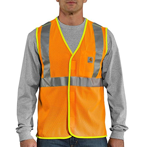 Carhartt Men's High Visibility Class 2 Vest,Brite Orange,Medium