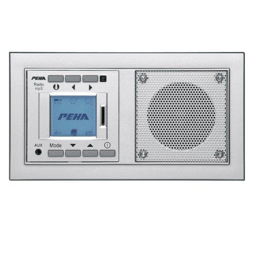 Honeywell Home PEHA MP3 Unterputz-Radio AudioPoint im Nova-Design ohne Funksender, Rahmen Alu