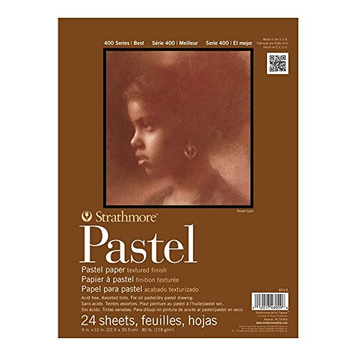 Strathmore 400 Series Pastel Pad, Assorted Colors, 11'x14' Glue Bound, 24 Sheets