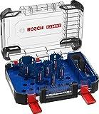 Bosch Professional Coffret de 9x scies trépans Expert Tough Material (pour Bois avec métal, Ø 22-68 mm, Accessoire Perceuse à percussion)