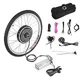Funnyrunstore 500W 36V Bicicletas eléctricas E-Bike 26 Pulgadas Kit de conversión de la Rueda Delantera Potente Ciclismo sin escobillas Motor Reemplace el Juego