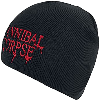 Cannibal Corpse Logo Unisexe Bonnet noir, 100% Polyacrylique,