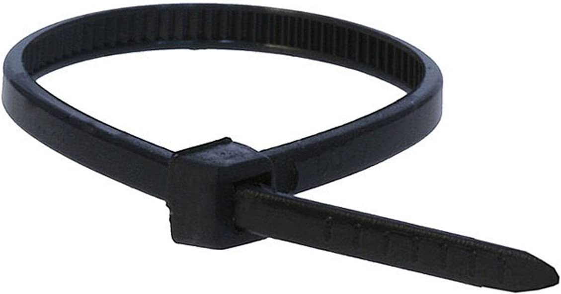 Monoprice 105755 4-Inch 18LBS Cable Tie, 100-Piece/Pack, Black