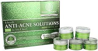 Khadi Natural Anti-Acne Solutions Mini Facial Kit with Tea Tree and Basil