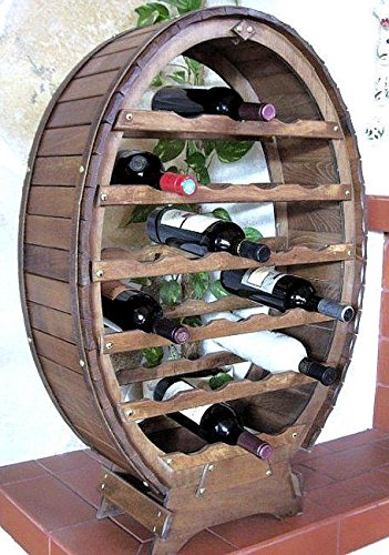 DanDiBo Scaffale Vini Botte-Vino per 24 Bottiglie verniciatura Marrone Bar Supporto Bottiglie Botte Porta Bottiglie