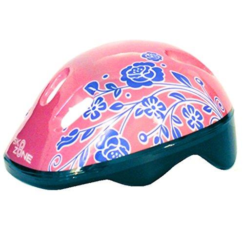 Sk8 Zone By Eurotrade Girls' HW218752 Pink White, Sk8 Zone Quad Kids Roller Boots Safety Pads Helmet Childrens Skate Set (Large: 3-6 (35-38 EU))