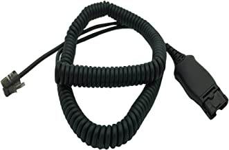 HIS-1 Adapter Cable by AvimaBasics | HIS Cable Compatible with Avaya Zulty Phones - 1608 1616 9610 9620 9620L 9620C 9630 9630 | Stretchable Durable Quick Connect & Disconnect Grips & Ergonomic