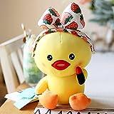Lindo Maquillaje Pato muñeca pequeño Pato Amarillo animando Pato de Peluche de Juguete muñeca de Pato muñeca niña Almohada 25 cm lápiz Labial Pato