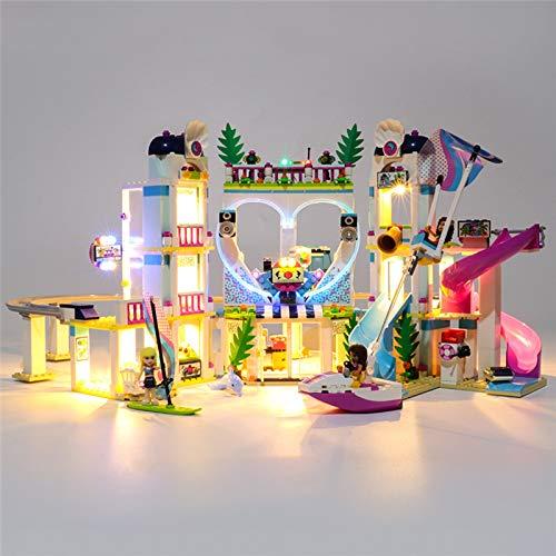 RTMX&kk Conjunto de Luces Lluminación para Amigos Heartlake City Resort Modelo de Bloques de Construcción, Kit de Luces Compatible con Lego 41347 (NO Incluido en el Modelo)