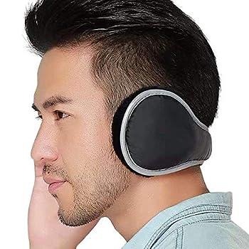 Ear Warmers Waterproof Unisex Winter Fleece Earmuffs for Men Women Adjustable Ear Muffs  Black