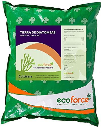CULTIVERS Tierra de Diatomeas 5 kg Molienda. 100% Natural y Ecológico. Grado alimenticio E55IC. No Calcinada de Alta pureza, sin tratamientos ni residuos