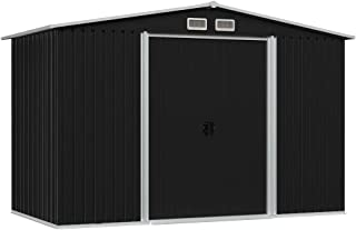 vidaXL Abri de Stockage pour Jardin Cabane à Outils Remise de Jardin Maison de Stockage Hangar de Rangement Arrière-cour E...