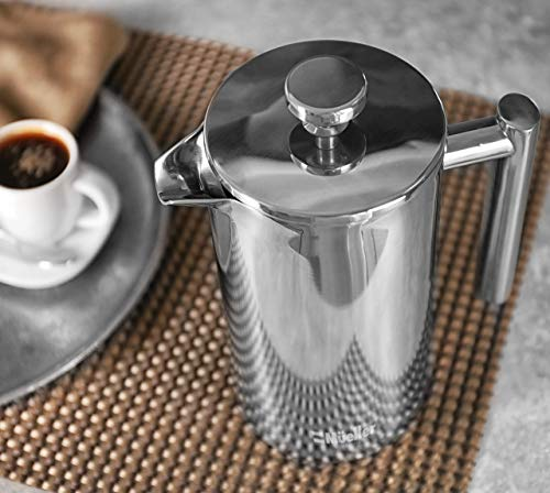 Mueller French Press Double Insulated 304 Stainless Steel Coffee Maker...