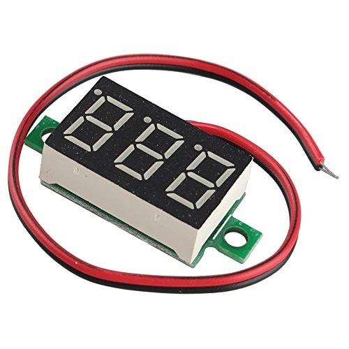 HALJIA 0.36 pulgadas DC 4,80 V-30.0 V voltímetro 2 cables rojo LED...