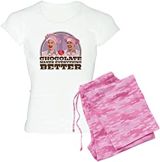 CafePress I Love Lucy: Chocolate Makes E Pajamas Women's PJs