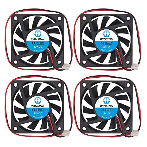 WINSINN 60mm Fan 12V Brushless 6010 60x10mm - High Speed (Pack of 4Pcs)