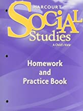 Harcourt Social Studies: Homework and Practice Book Student Edition Grade 1
