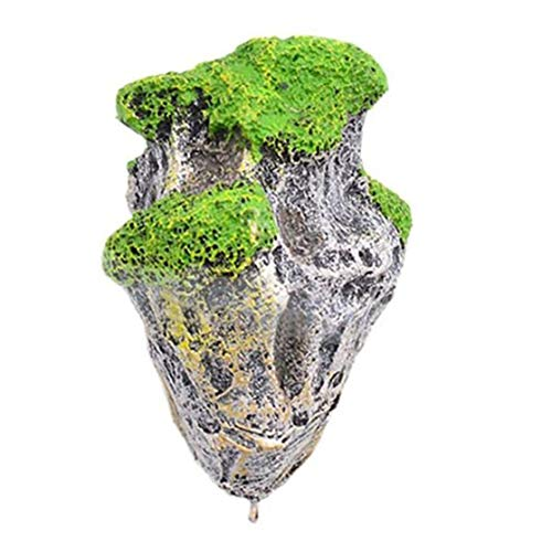 LHHA Schwimmende Felsen des Aquariums, Aquariumdekoration, Unterwasserdekoration, schwimmender Felsen des künstlichen Moossteins