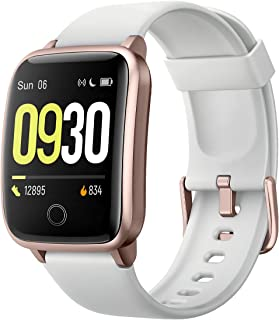 Smart Watch for Men Women IP68 Waterproof, Fitness Tracker Heart Rate Monitor Sport Digital Watch, Smartwatch for Android Phones and iOS Phones Compatible iPhone Samsung
