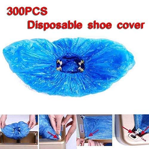 EDECO Cubiertas de Zapatos 300Pcs - Cubrezapatos Antideslizantes/Impermeables Más Gruesos/Protectores de Alfombras de Piso Adecuados para Interiores y Exteriores