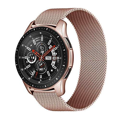HGGFA 20mm 22mm Correa para Samsung Galaxy Watch 46mm 42mm Gear S3 Frontier Watch 3 45mm 41mm Active 2 para Huawei GT 2 Amazfit BIP Banda (Band Color : Rose Gold, Band Width : 20mm)