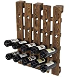 MyGift Wall Mounted 20-Bottle Burnt Brown Barnwood Pallet Style Hanging Wine Accessories Holder...