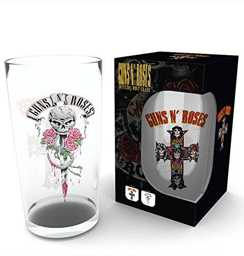 empireposter Guns N Roses - Vaso de cerveza (500 ml, altura 14,7 cm, d
