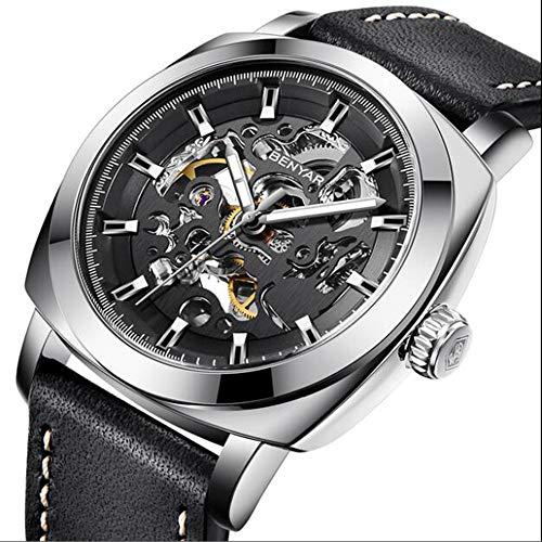 Mechanisch horloge automatische holle fashion heren horloge waterdicht heren horloge