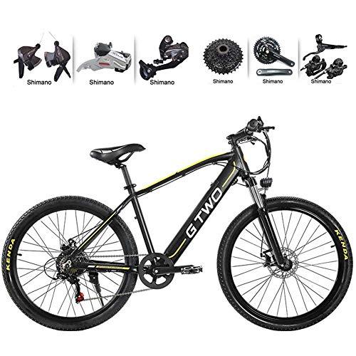 WFWPY Bicicleta eléctrica Plegable 26 Pulgadas 350W Bicicleta de montaña 48 V 9,6Ah Batería de Litio extraíble Tamaño de Persona aplicable de 160 cm a 200 cm