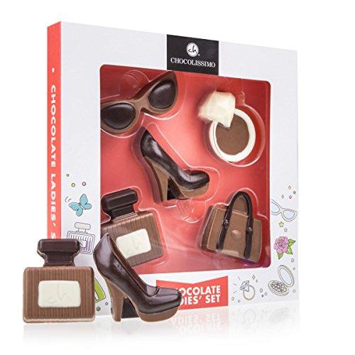 Mode-Set aus Schokolade - Geschenk für Frau | Muttertag | Schuh aus Schokolade | Schokoladenhandtasche | lustige Geschenke für Frauen | Mädchen | Mama | Valentinstag Geburtstag