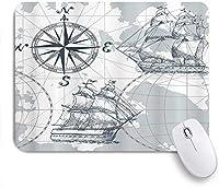 VAMIX マウスパッド 個性的 おしゃれ 柔軟 かわいい ゴム製裏面 ゲーミングマウスパッド PC ノートパソコン オフィス用 デスクマット 滑り止め 耐久性が良い おもしろいパターン (海の写真の海のヨットの曇り空に航海の古い商船)